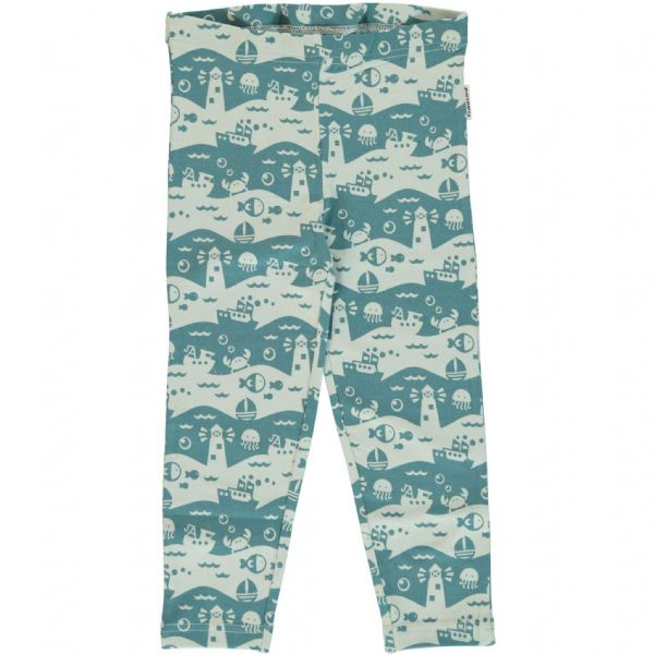 Maxomorra Leggings Cropped Ocean Landscape